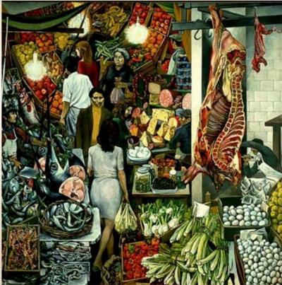 Palermo's Vucciria Market, by Renato Guttuso