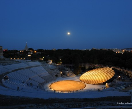 Siracusa Greek Theatre set for performance