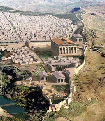 ancient Greek Akagras (modern Agrigento), artist's reconstruction