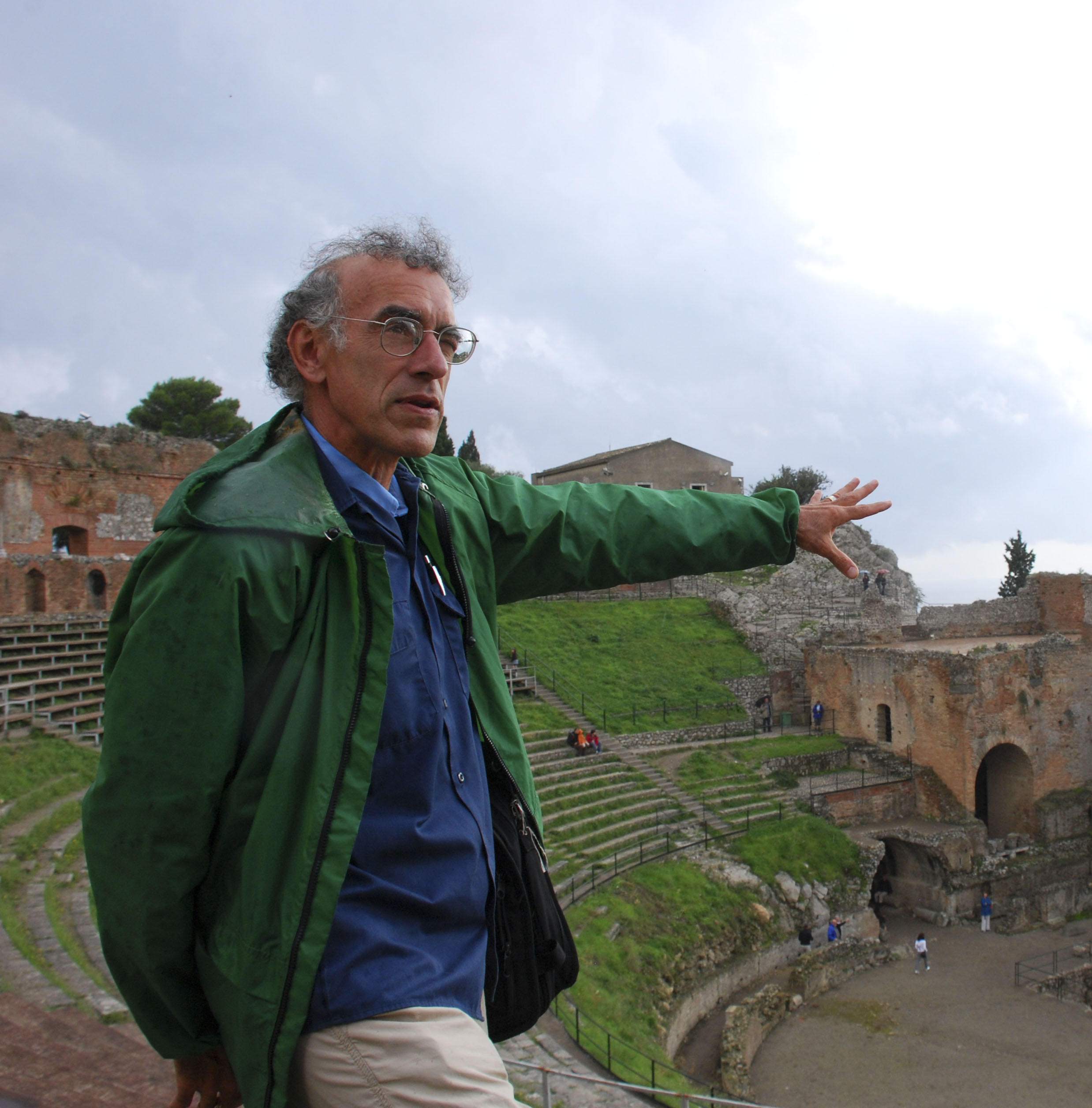Douglas at the Roman Theatre of Taormina