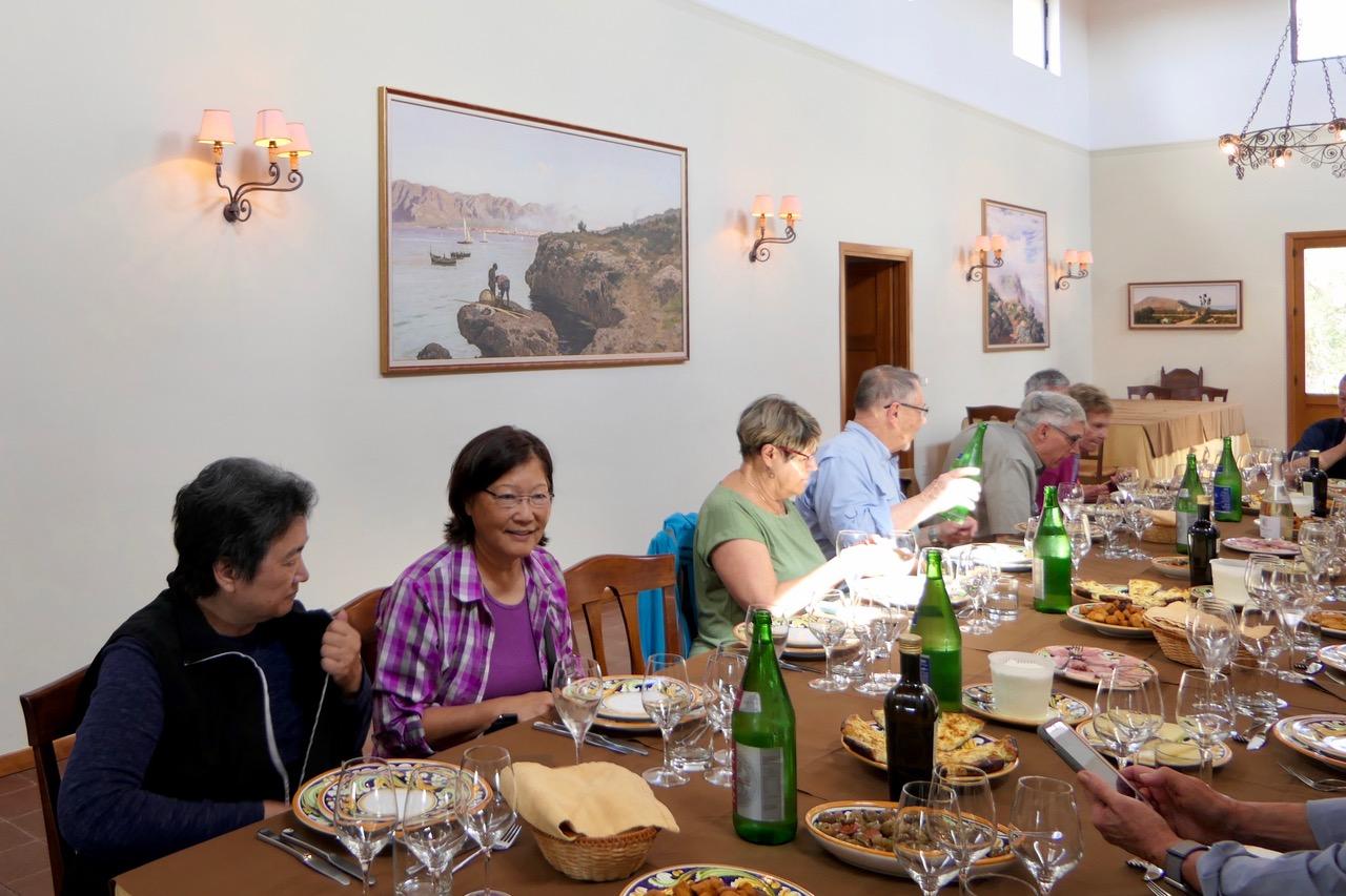 lunch at Feudo di Principe di Butera