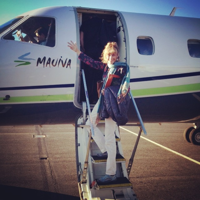 Ingrid, ITMI Alumni 2013, in action with Mauiva AirCruise!