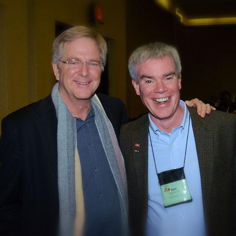Matt, ITMI Alumni with Rick Steves at the ITMI Symposium 2014.