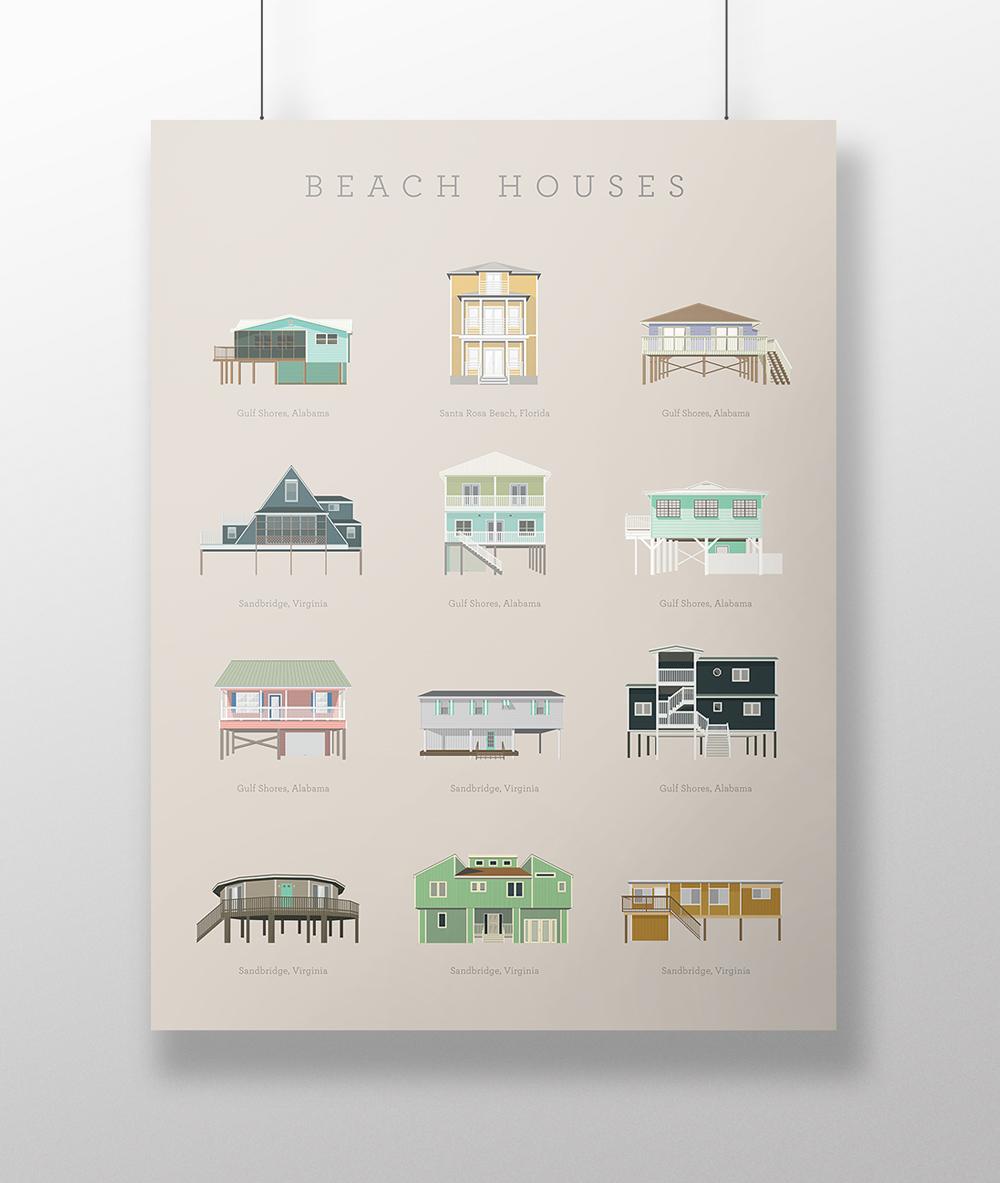 Carrie A Donovan beach house poster