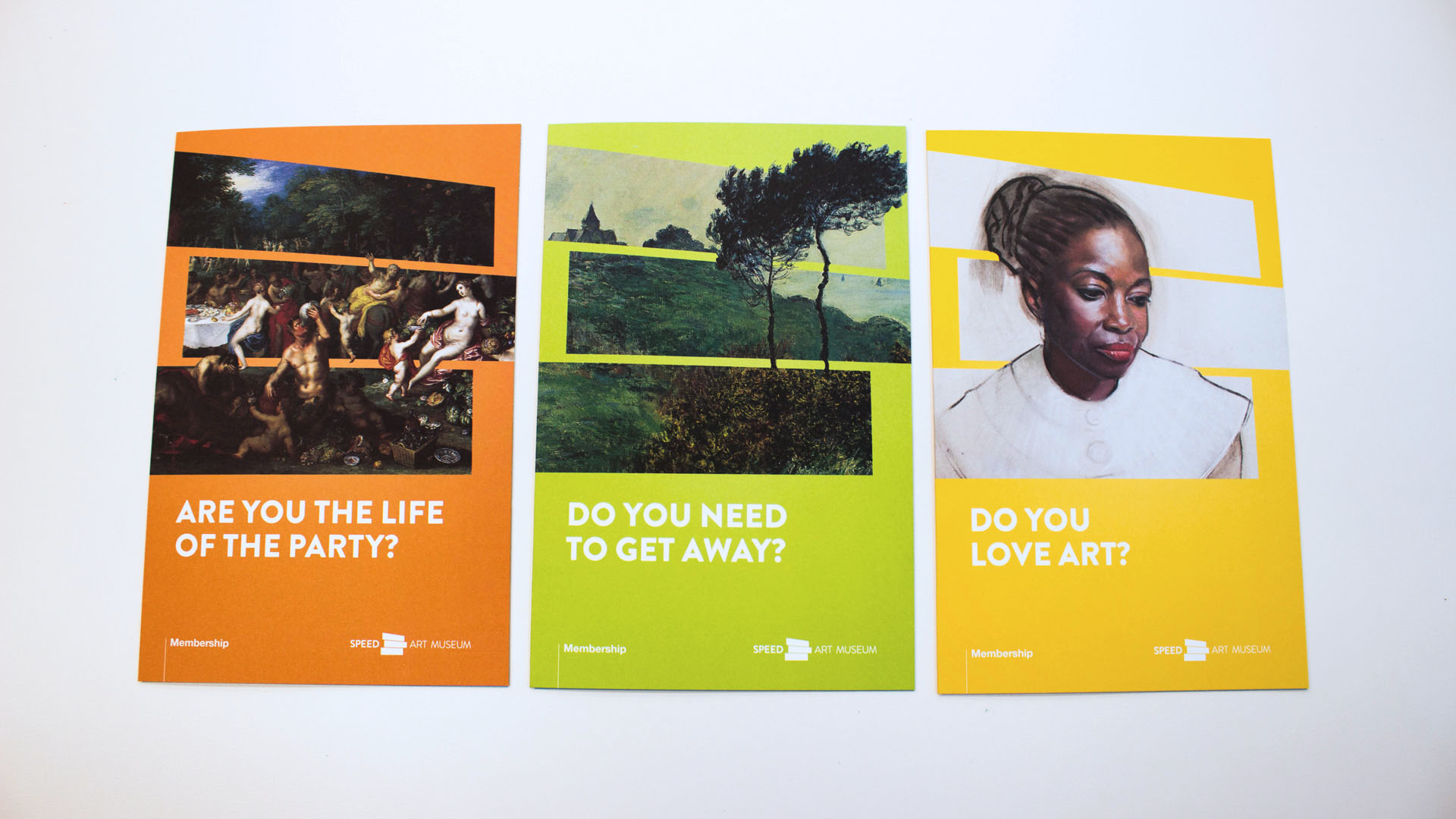 The main brochure for Speed membership asks relatable questions to help people see that they have a place at the museum, no matter who they are.