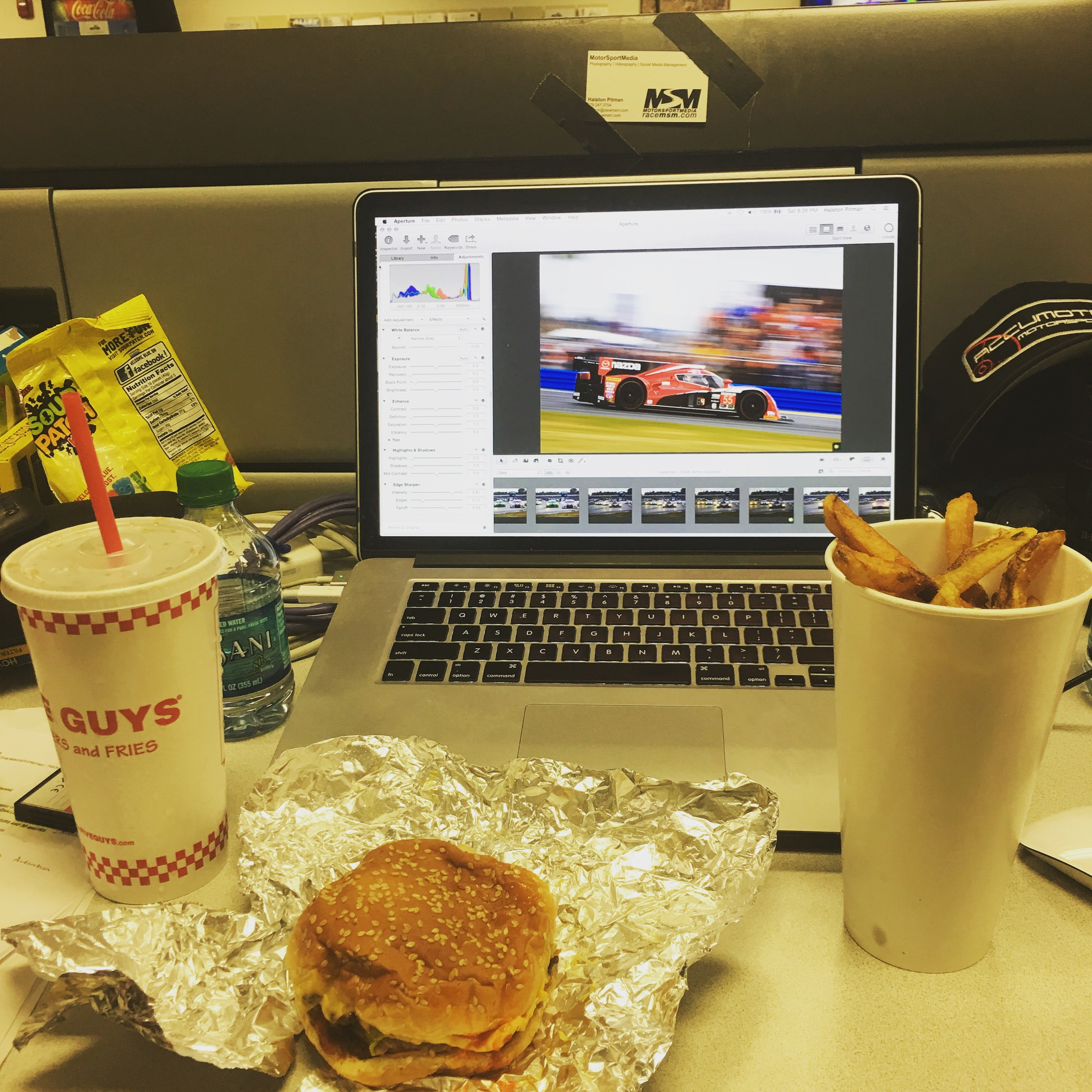 Five Guys. Editing.