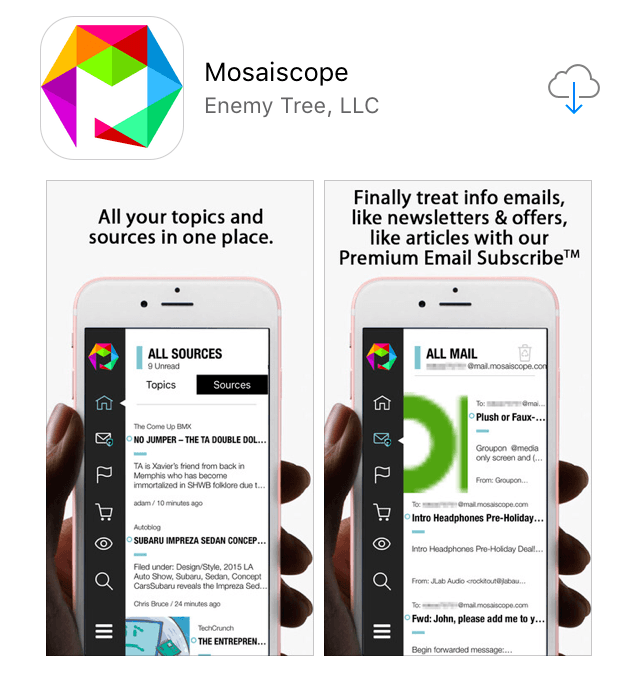 Mosaiscope in the App Store!