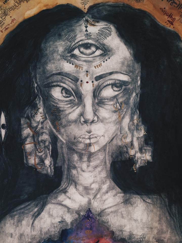 """There Is No One of Her Kind  22"""" x 40"""". 2015."""