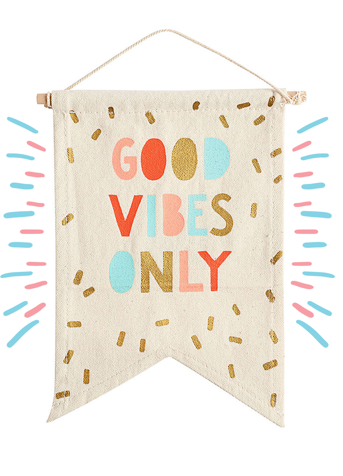 good vibes only flag / words for the new year | @themissprints