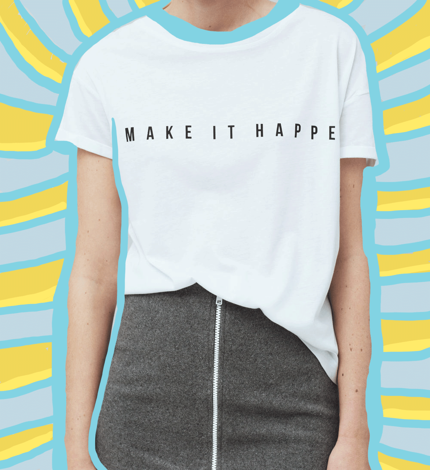 WEAR YOUR RESOLUTION //  MAKE IT HAPPEN TEE