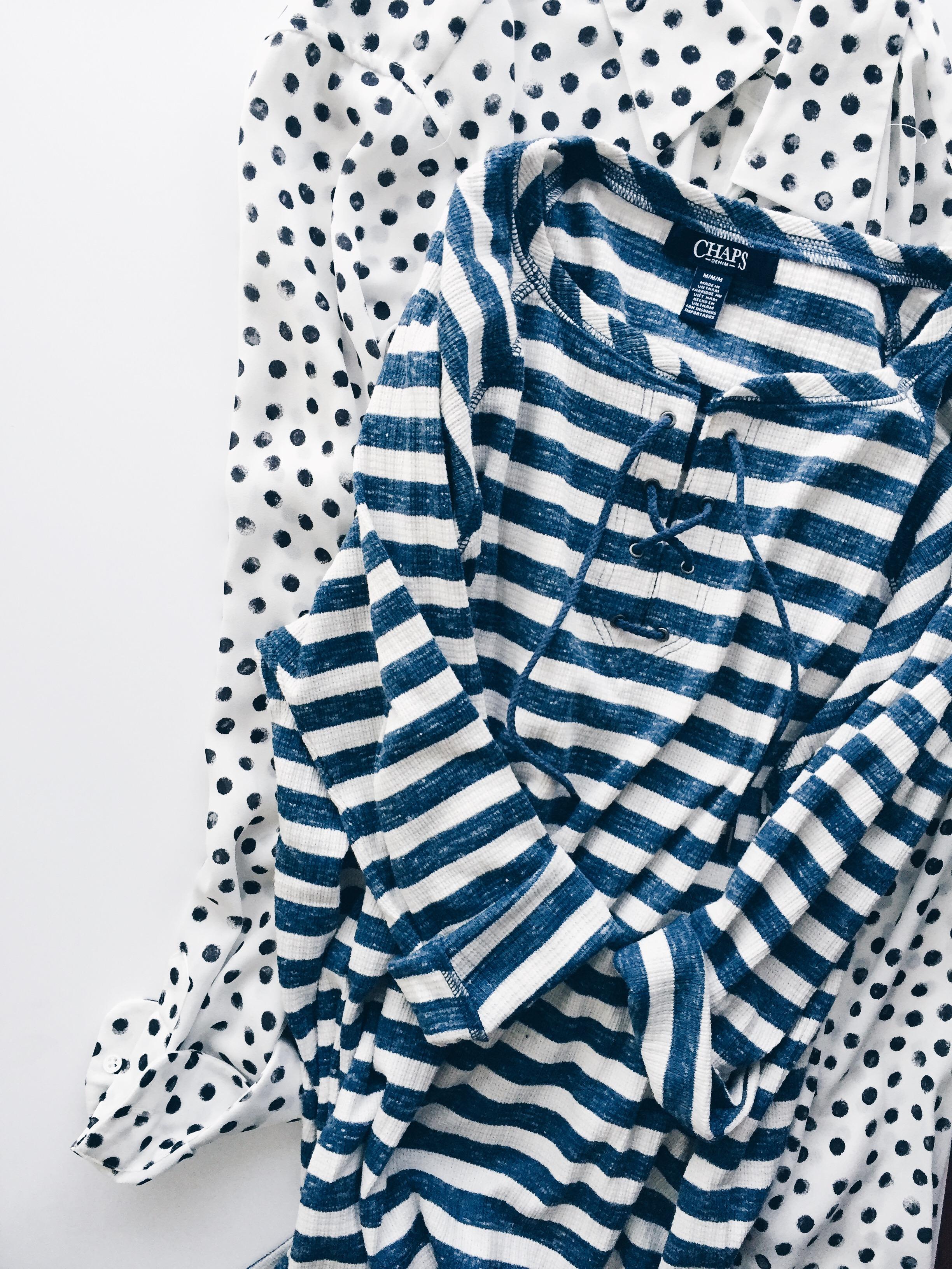 TIP: stripes and polka dots go together like PB&J.