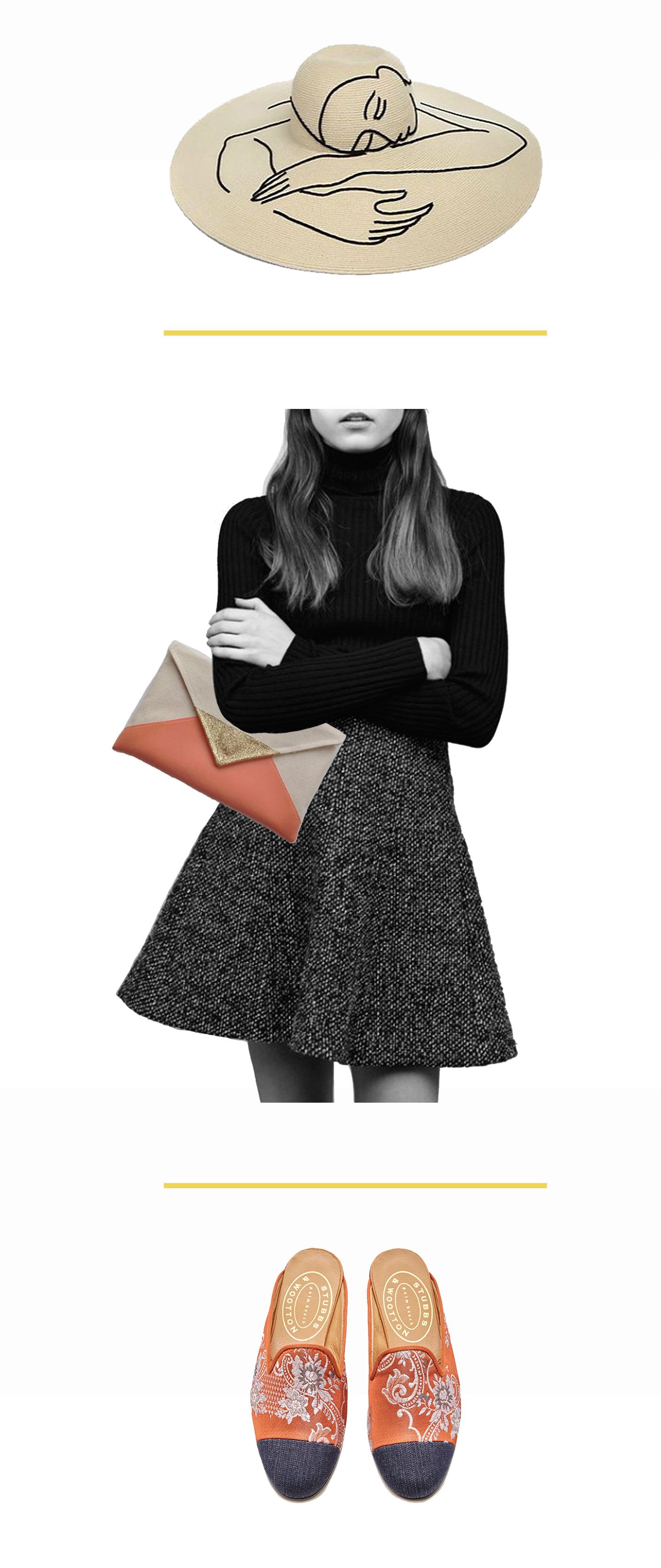 how miss prints wears a floppy hat   @themissprints