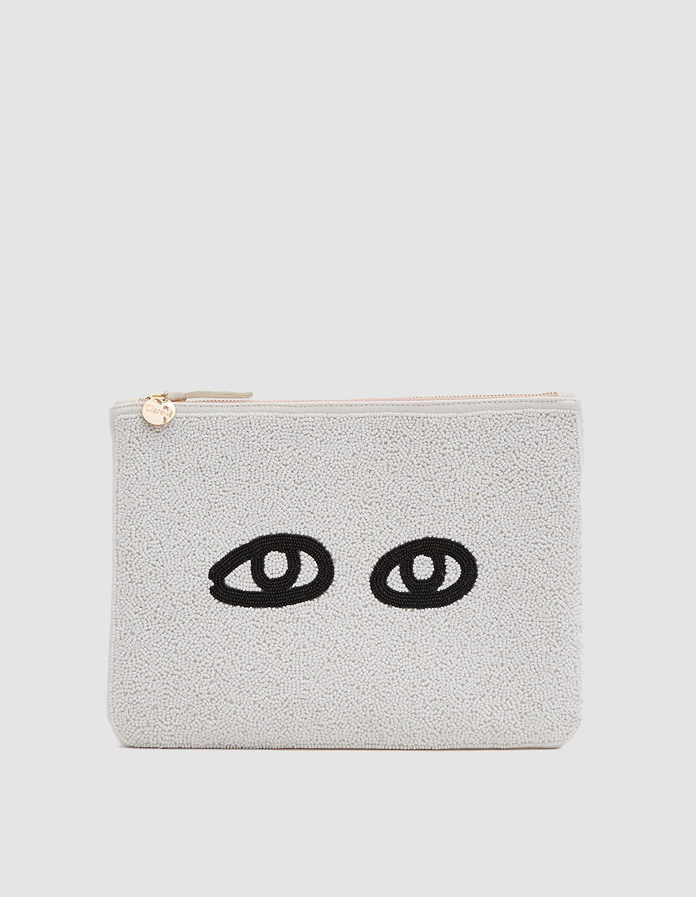 claire v. beaded eye clutch | @themissprints