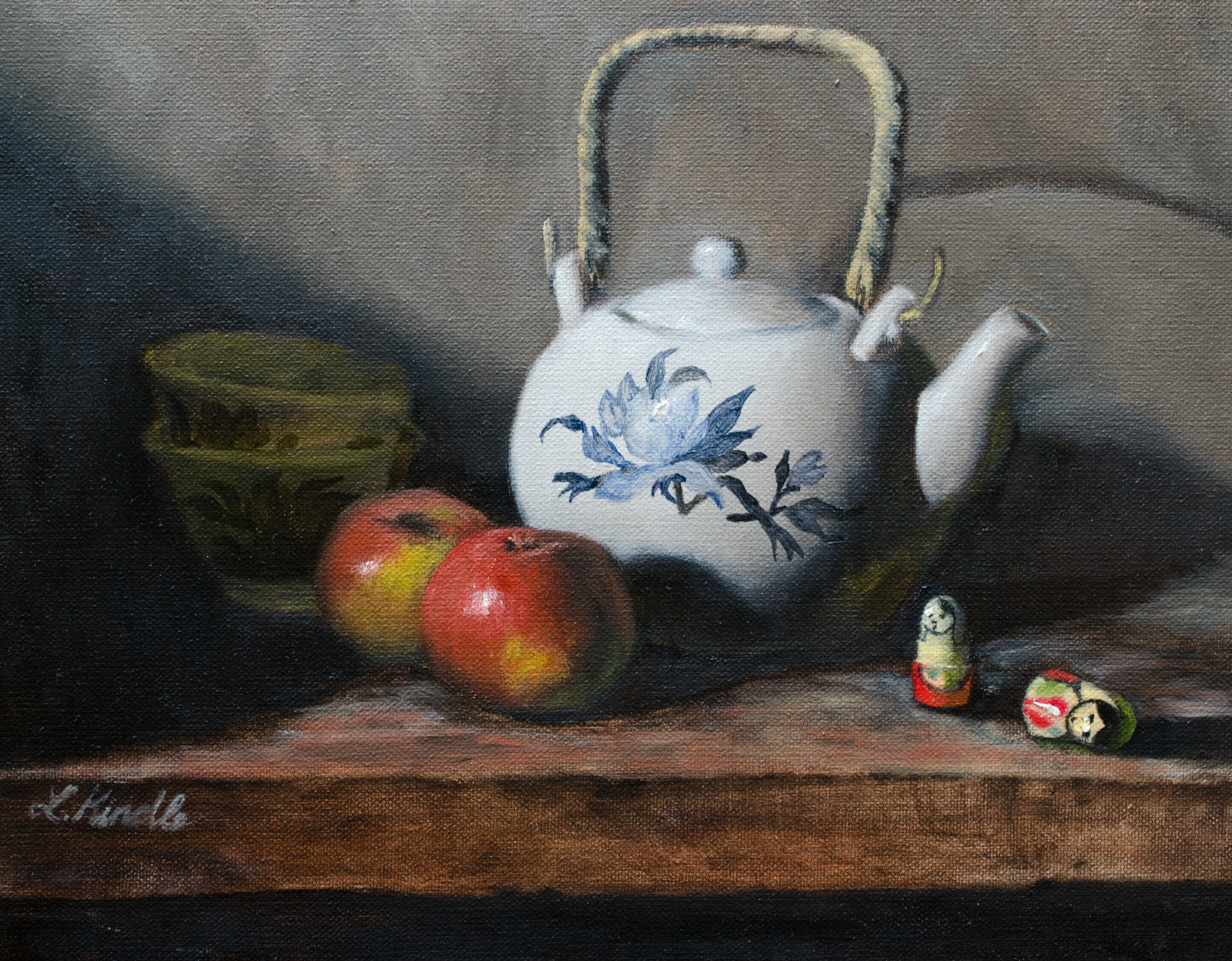 """Grandmommy's Teapot, After She Is Gone,"" oil on canvas, 11x14'' 2015"