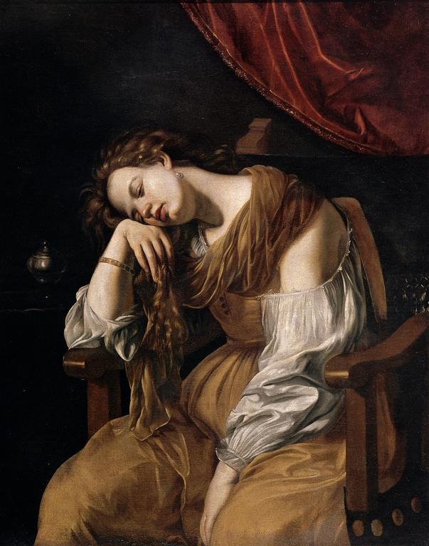 """Mary Magdalene as Melancholy"" by Artemesia Gentileschi"