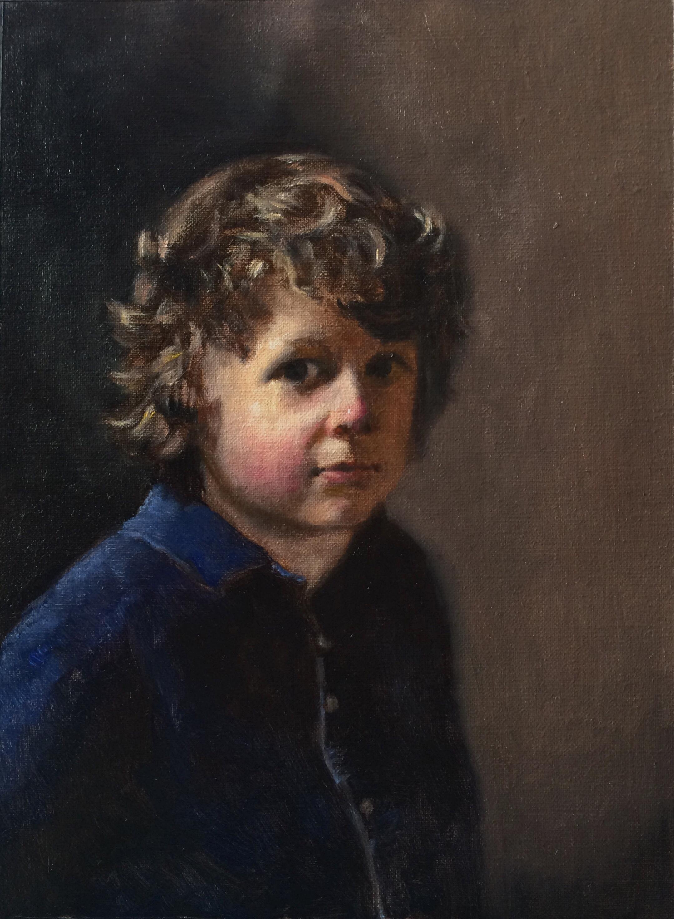 """Morgan"" oil on canvas, 10x13''"