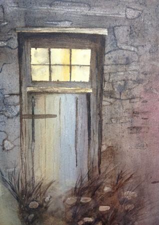 """Barn Door"" watercolor by Kate Brandes"