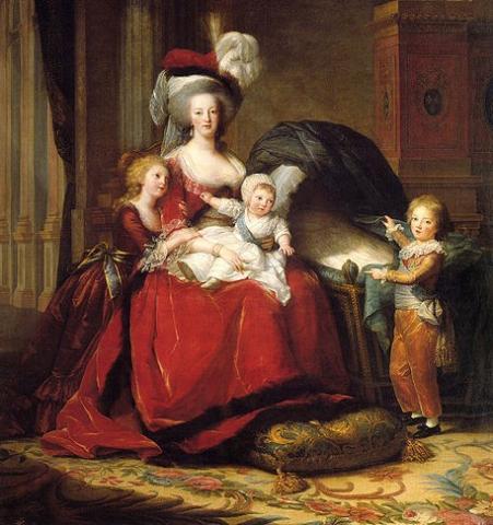 Marie Antoinette and Her Children, 1787