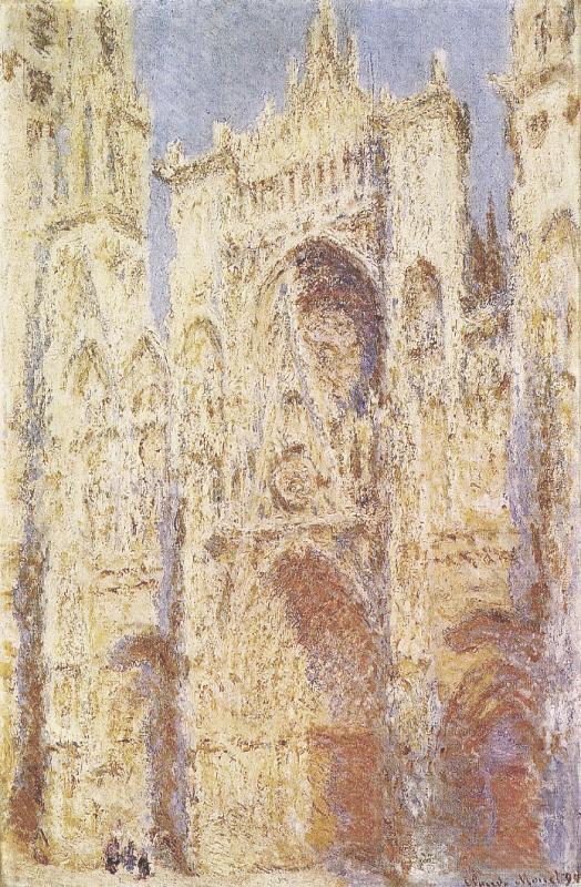 Rouen Cathedral, West Façade, Sunlight  1892   Washington, D.C., USA