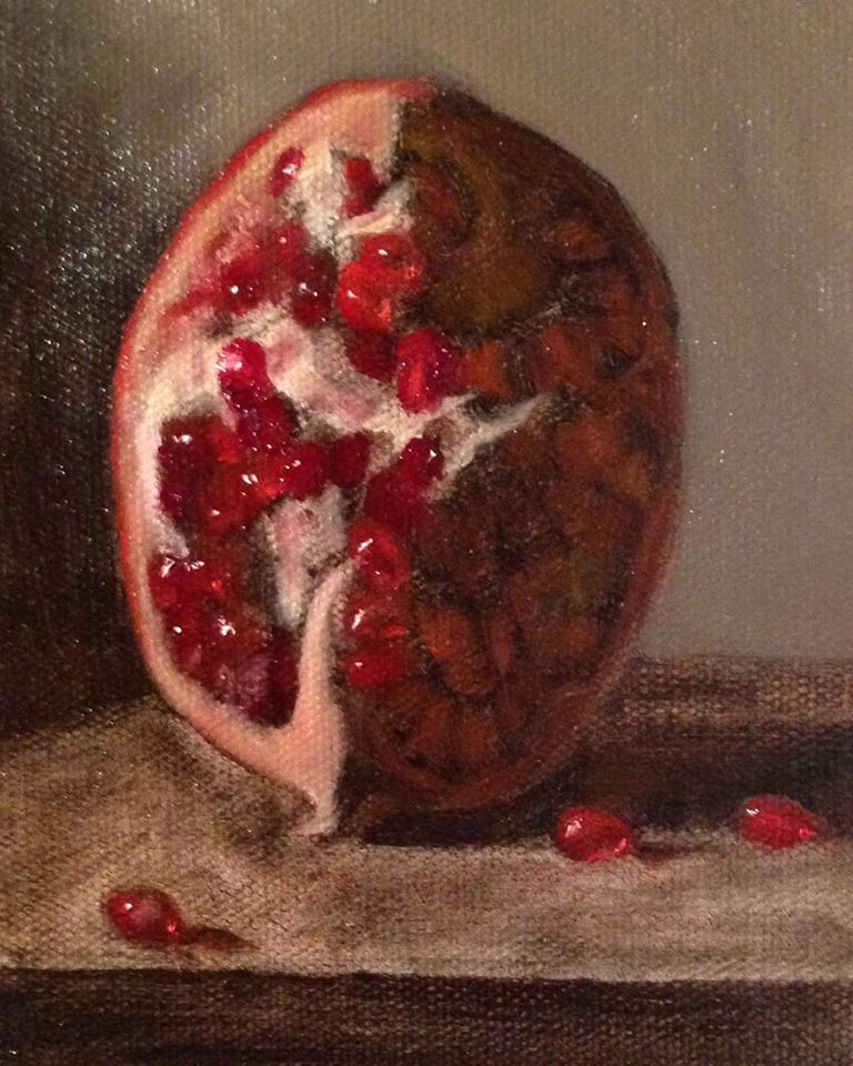 """""""Temptation"""" oil on canvas, 5x7'' This small painting was a study I did in preparation for my """"Eve"""" painting."""