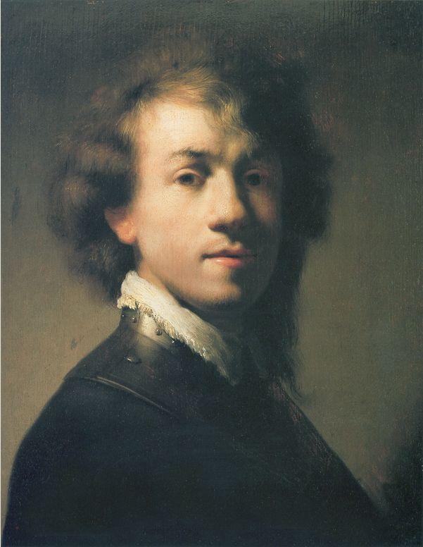 "Rembrandt, ""Self Portrait in a Gorget,"" c. 1629"