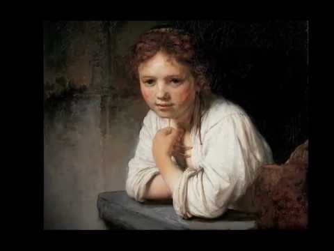"""""""A Girl at a Window"""" by Rembrandt"""