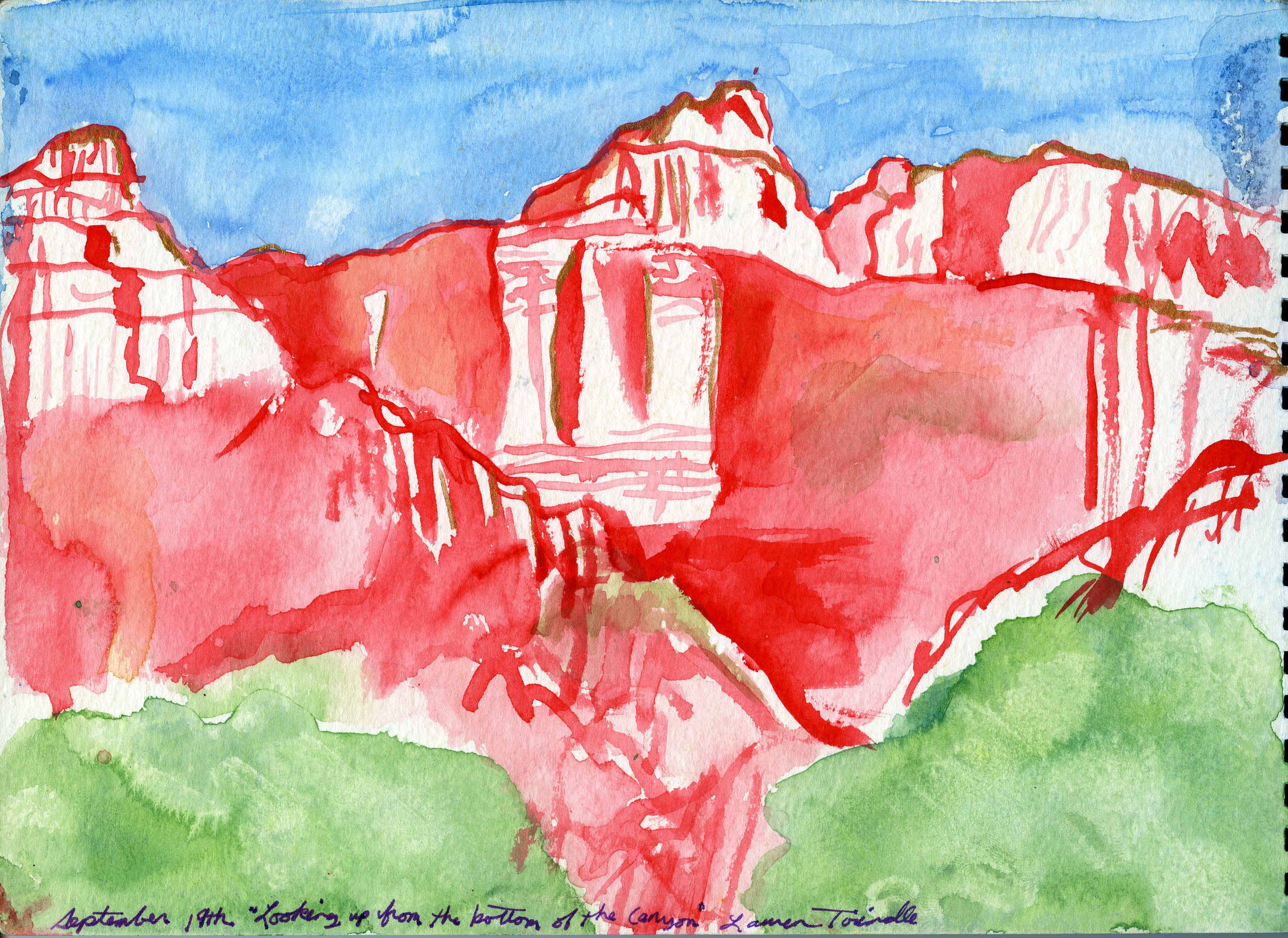 """Sept. 19th, 2003 """"Looking up from the bottom of the Canyon"""""""