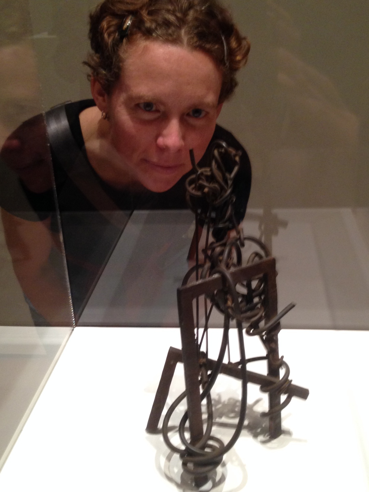 """Figure . 1931. Iron and iron wire.  """"I love the shadows. That looks like it was fun to make!"""" -- Kat"""