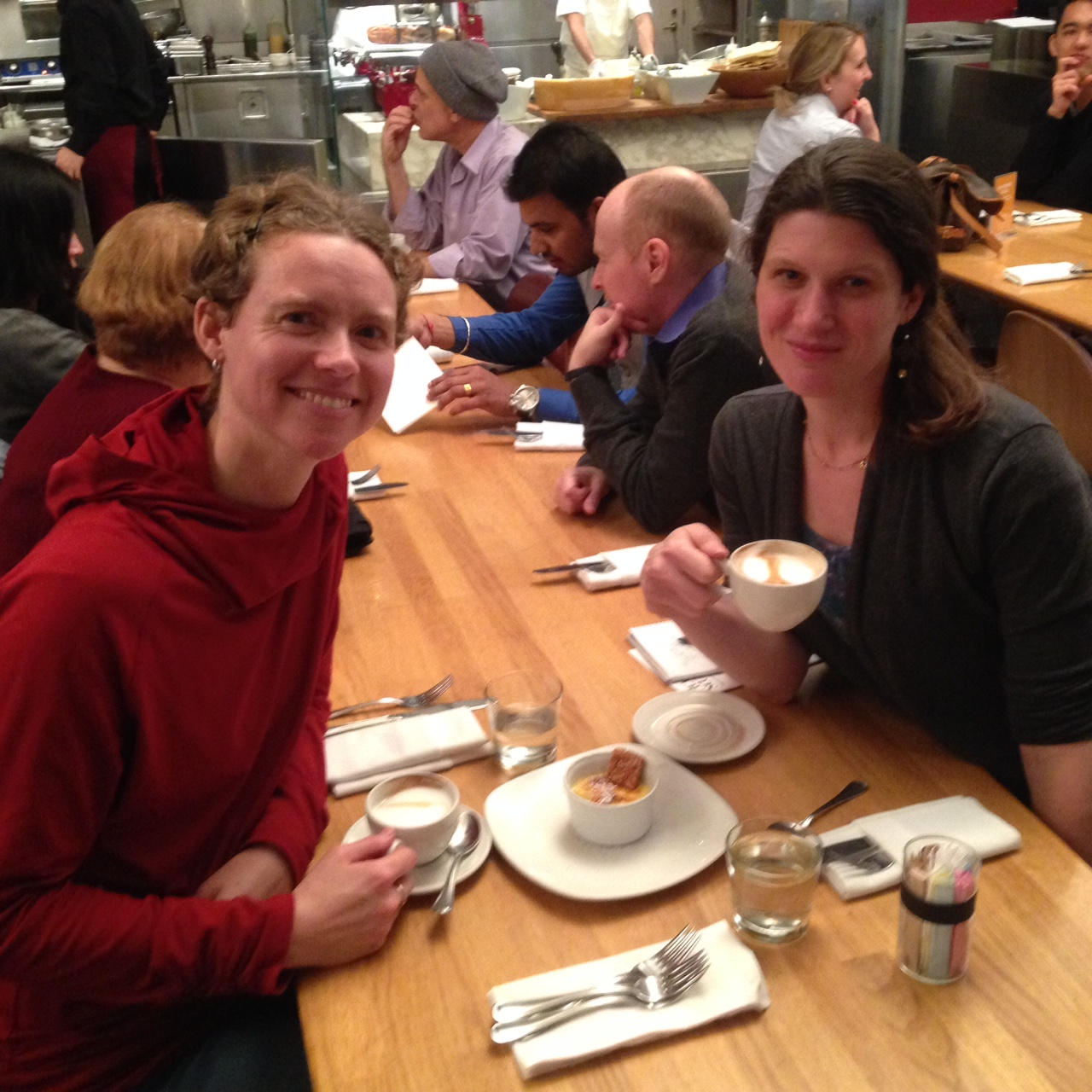 Debriefing afterwards over cappuccinos in the museum cafe.