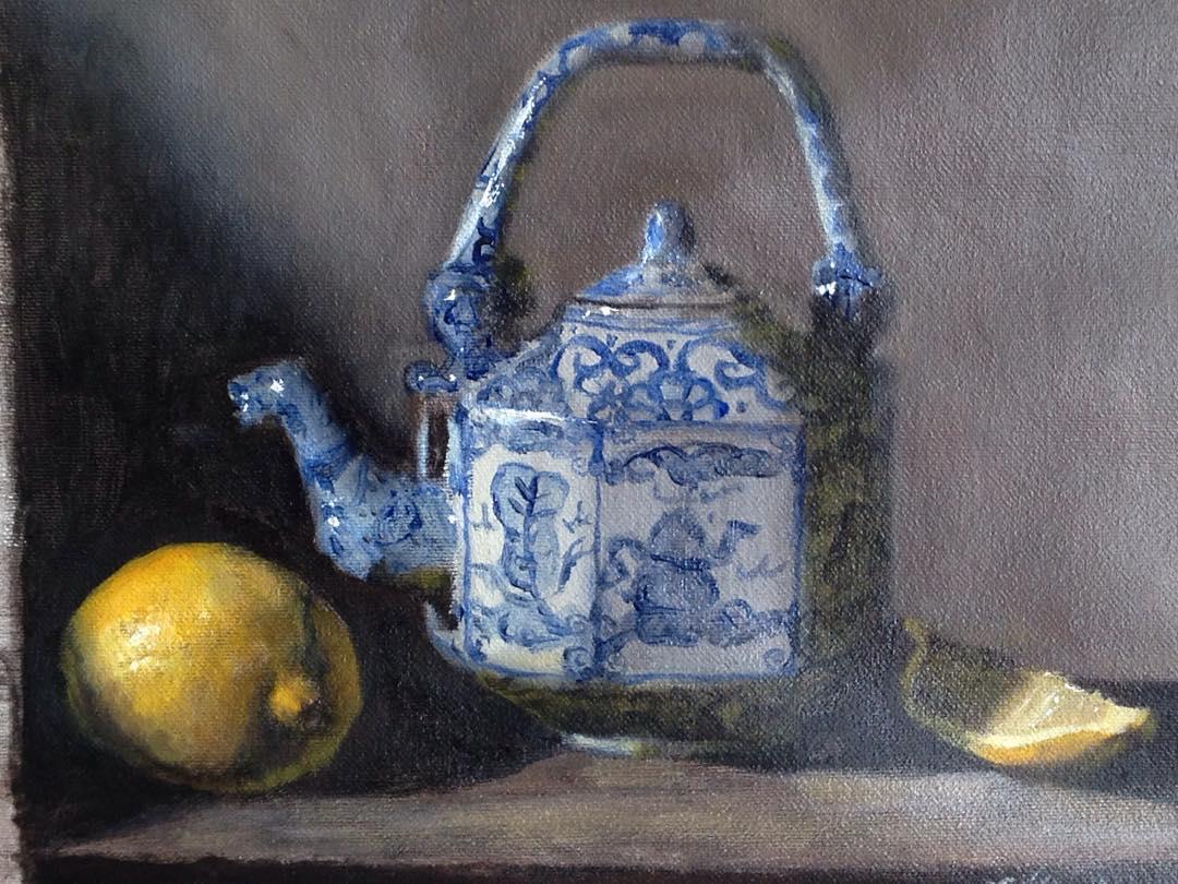"""Helena's Teapot"" oil on canvas, 8x10''"