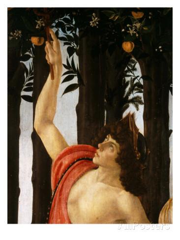 The figure of Mercury may have been modeled after Lorenzo di Pierfrancesco de' Medici's cousin, Giuliano.