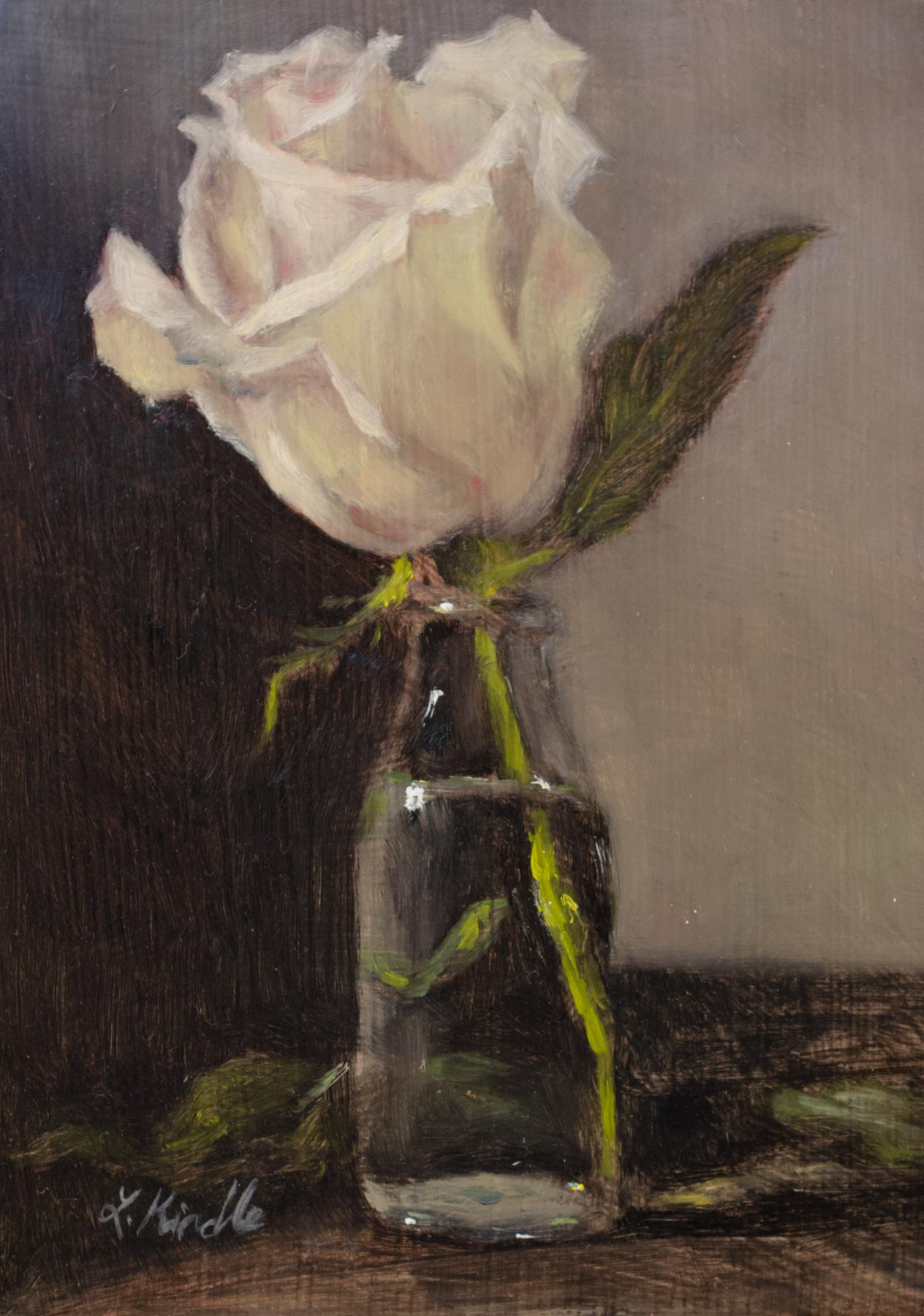 """""""Virtue"""" oil on wood panel, 5x7''"""