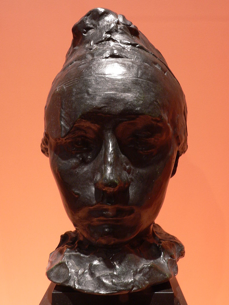 A bust of Camille Claudel