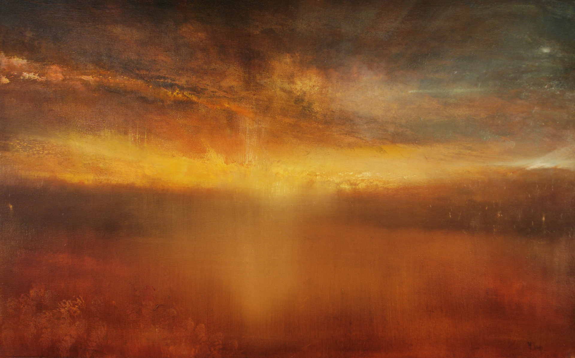a sunset painting by Maurice Sapiro