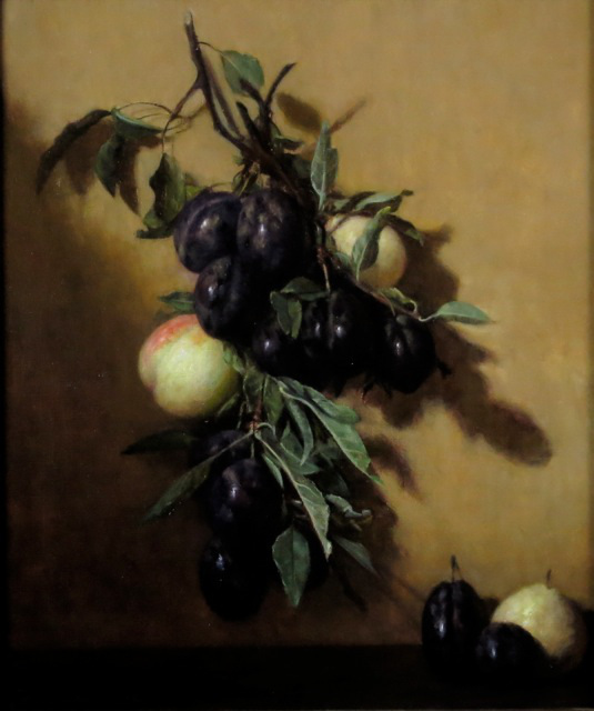 """Garland of Plums and Peaches"" 12x14"""