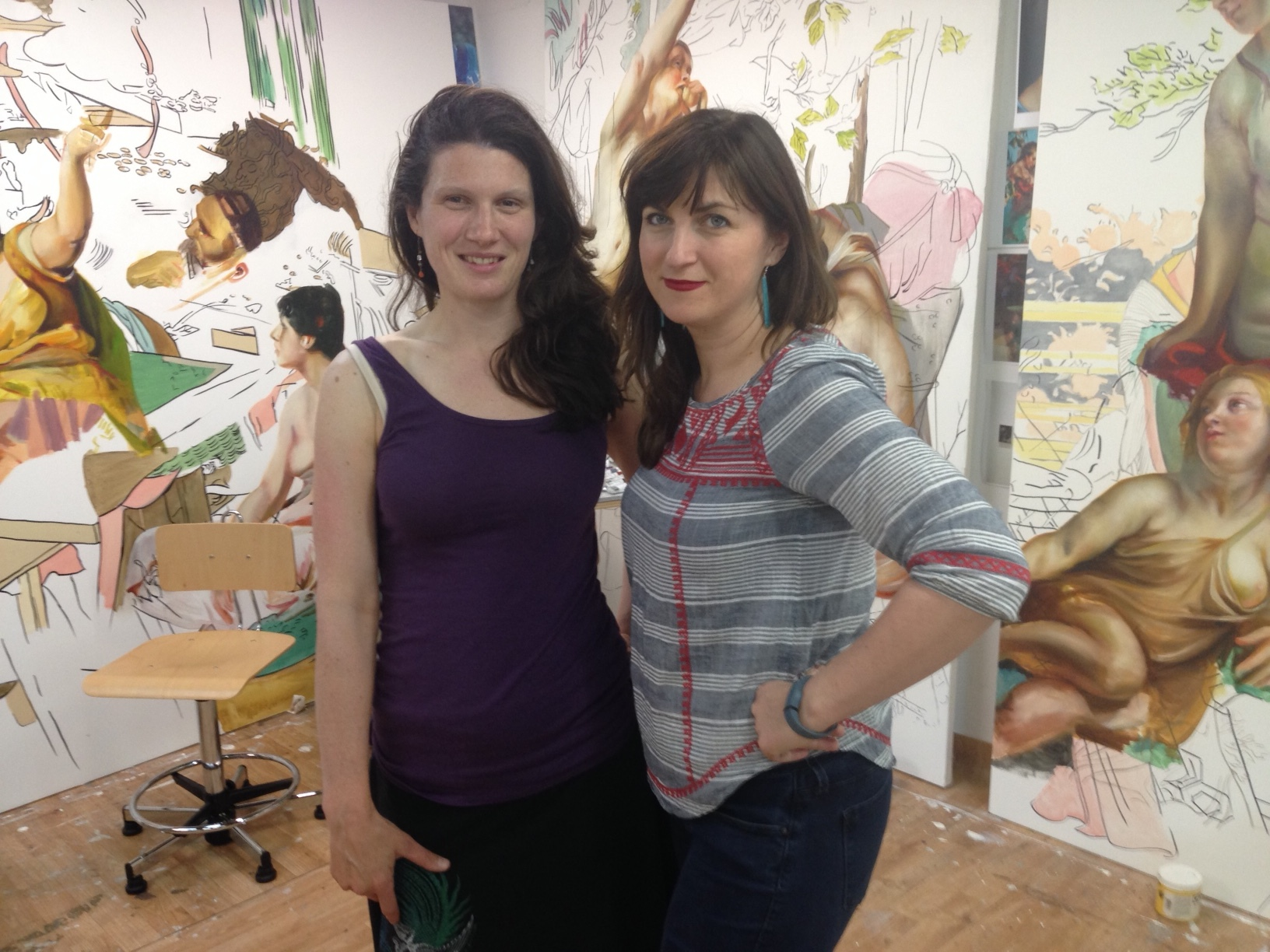 Me and Angie, in her studio!