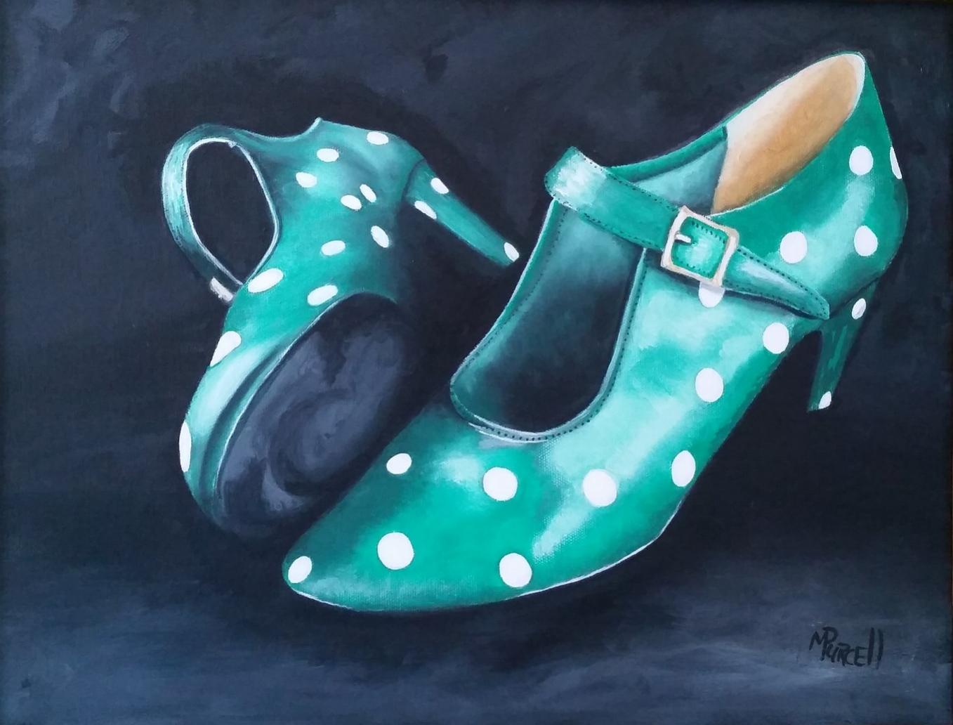 """""""Dancing Shoes"""" 16x22"""" $375"""
