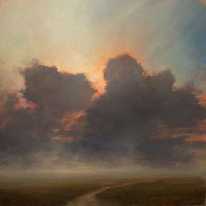 """""""Illumina"""" oil on canvas 30x30"""" 2014"""