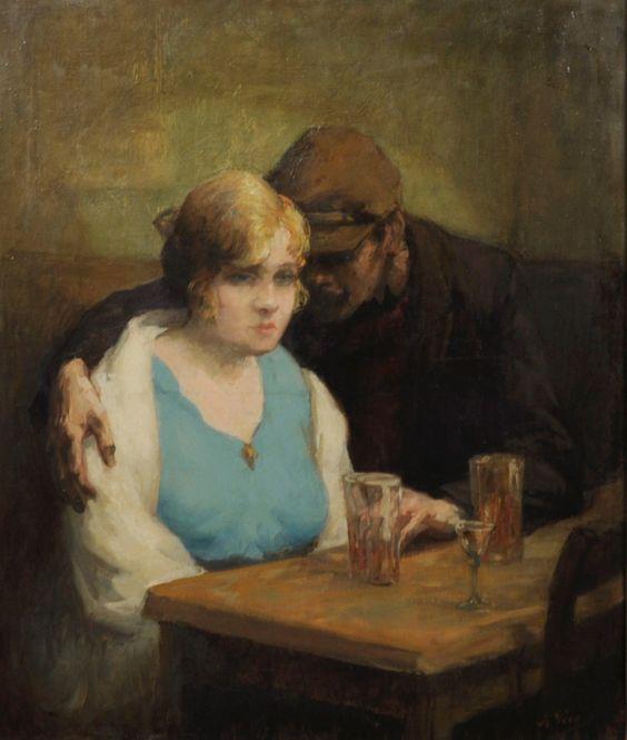 "Kurt Peiser, ""Couple au Café"""