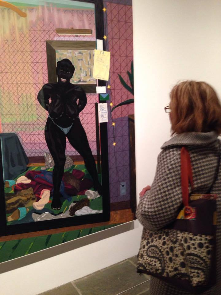 """Elizabeth looks at """"Untitled (Mirror Girl)"""" by Kerry James Marshall (2014)"""