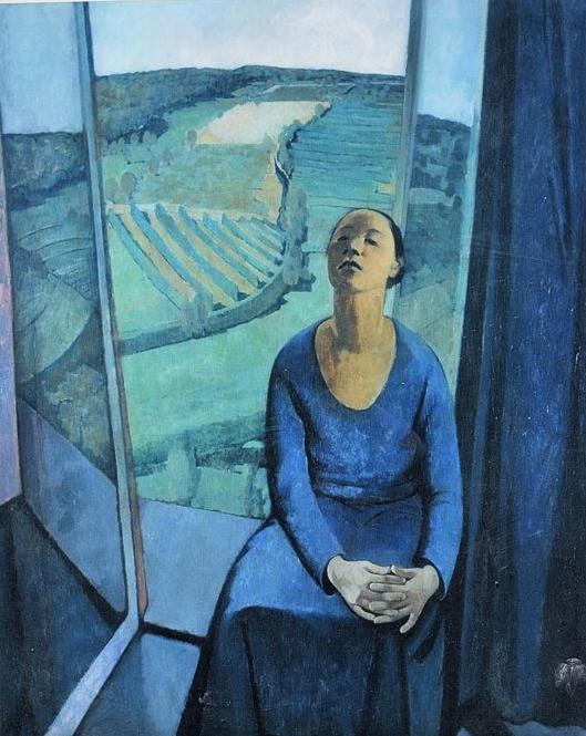 """""""Daphne at Paravola"""" by Felice Casorati"""