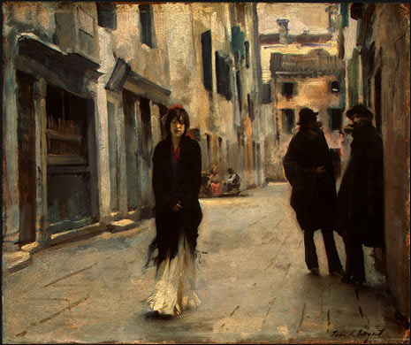 """Street in Venice"" an oil painting by John Singer Sargent"