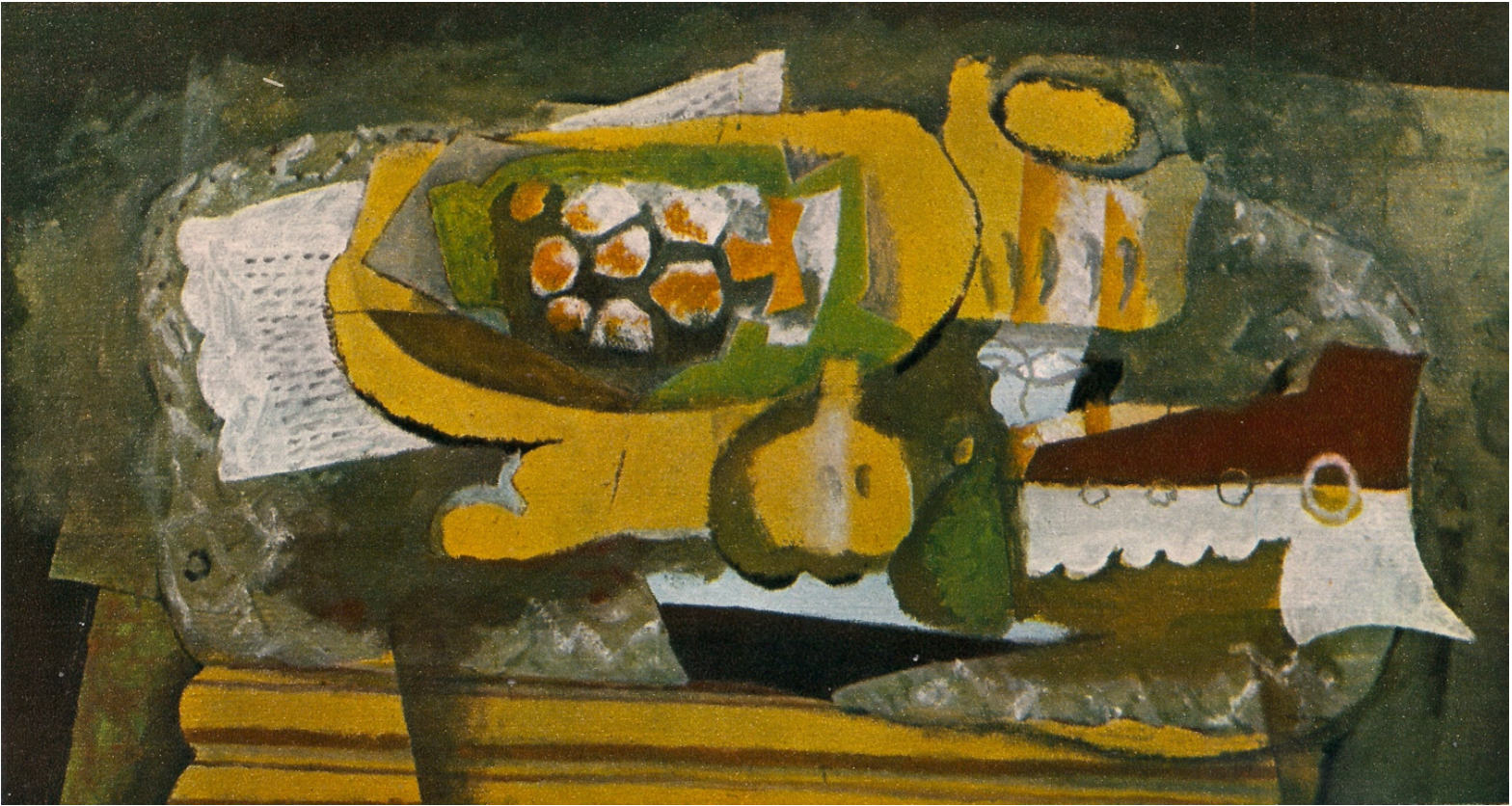 """""""Fruit Dish and Clarinet"""" 1920 by  Braque"""