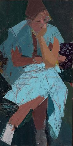 This is my favorite painting (currently) by Ken Kewley. I like to pretend it's a painting of  me , when I'm feeling overwhelmed and thinking too much!