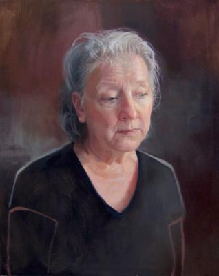 """Mother"" oil painting by Sean Mount"