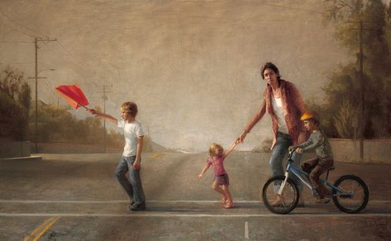 """""""Street Crossing,"""" painting by Zoey Frank"""