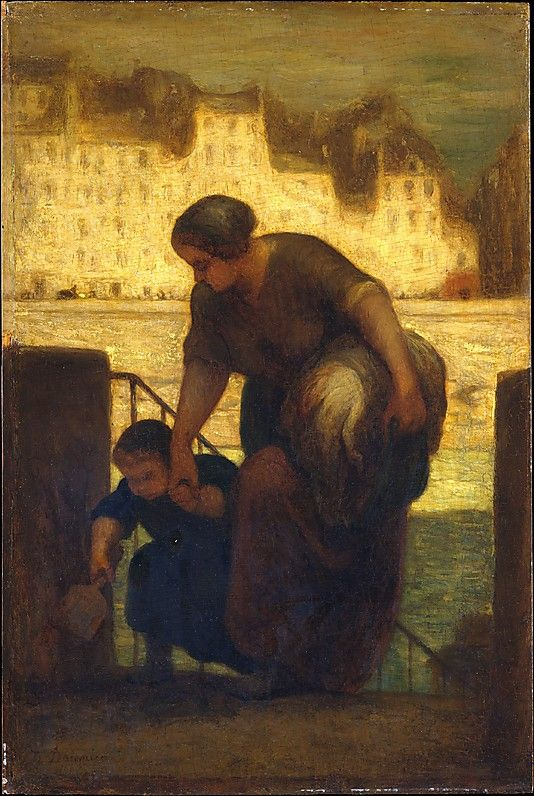 """""""The Laundress,"""" painting by Honoré Daumier"""