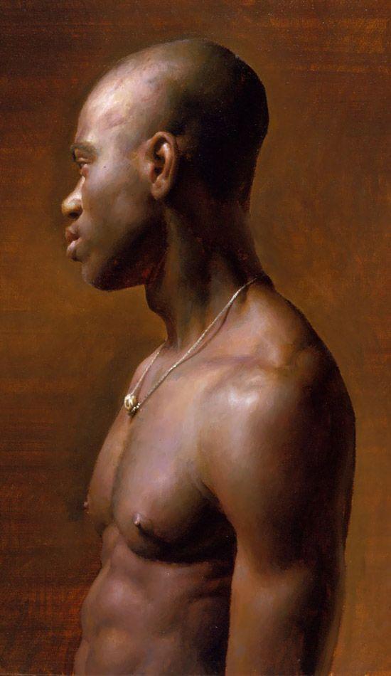 """Vincent"" oil painting by  Jacob Collins , 1998"