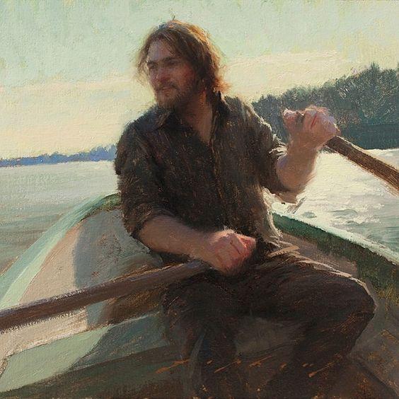 Self portrait by  Jeremy Lipking