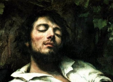 detail of a painting by  Gustave Courbet #swoon  (he definitely used himself as a model)